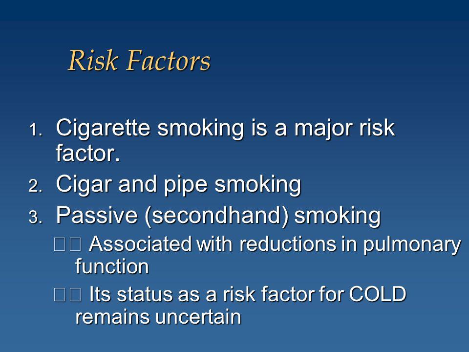 Risk Factors Cigarette smoking is a major risk factor.
