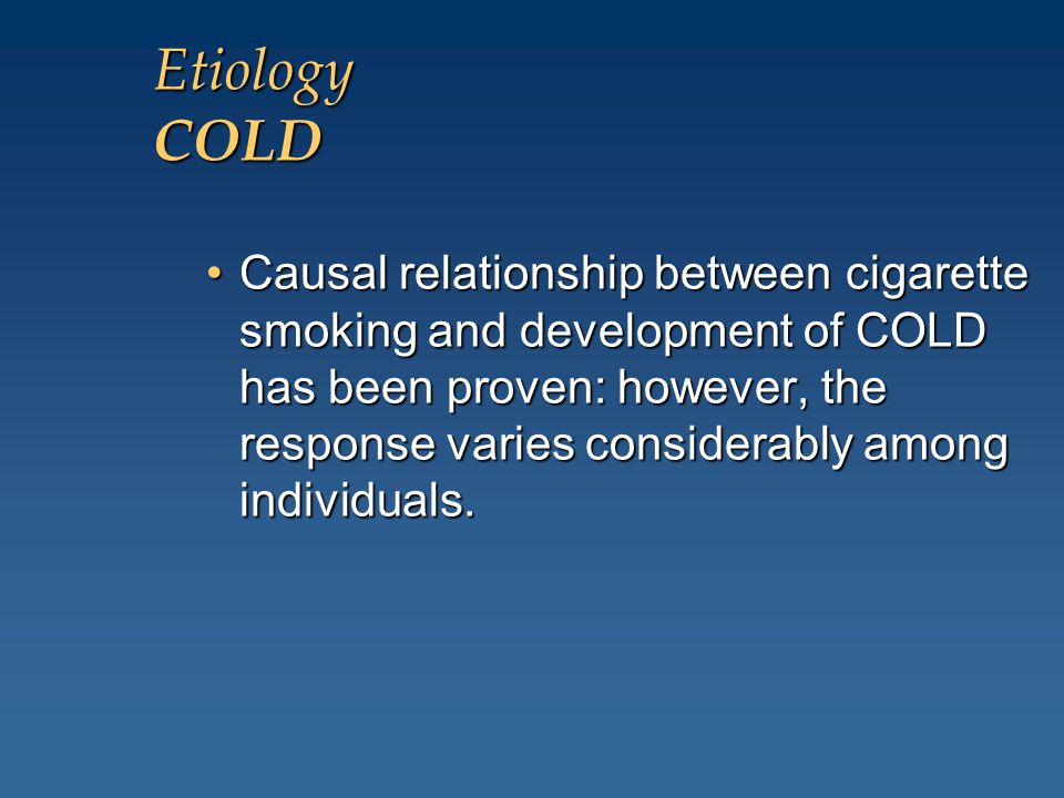 Etiology COLD