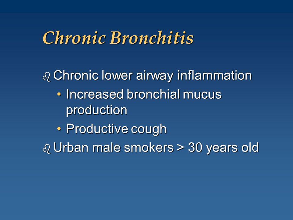 Chronic Bronchitis Chronic lower airway inflammation