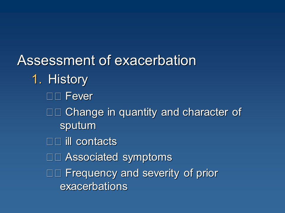 Assessment of exacerbation
