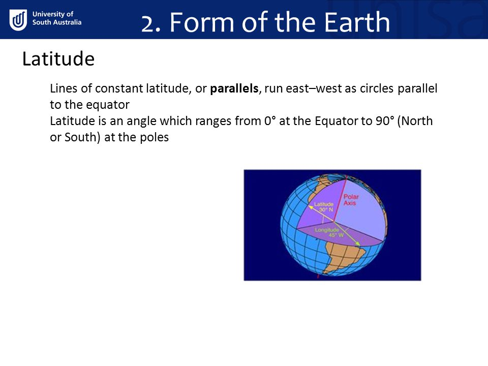2. Form of the Earth Latitude