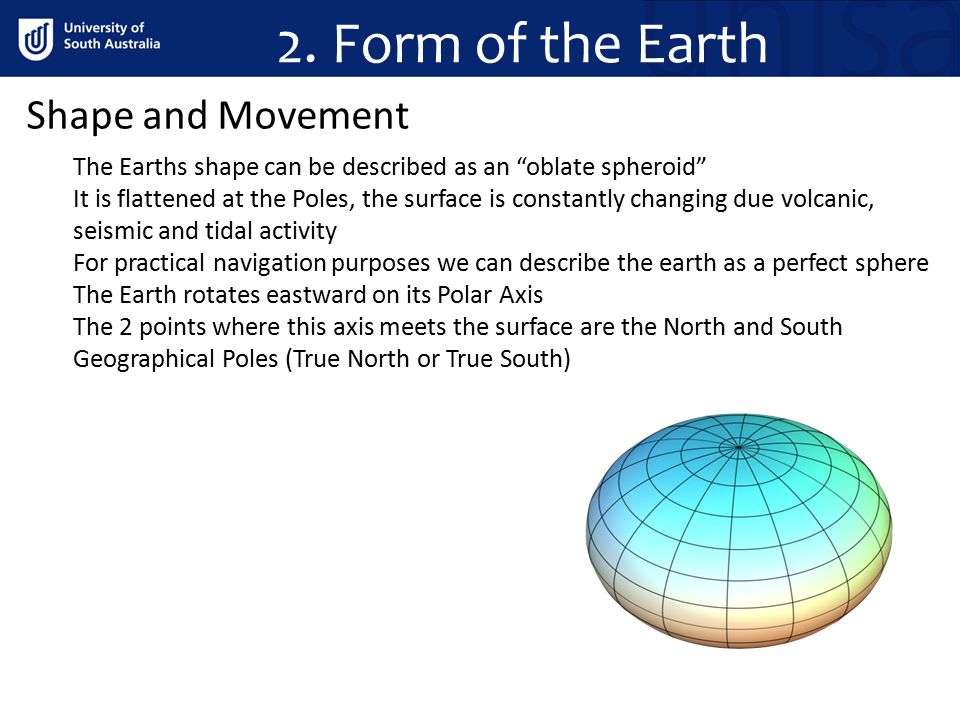 2. Form of the Earth Shape and Movement