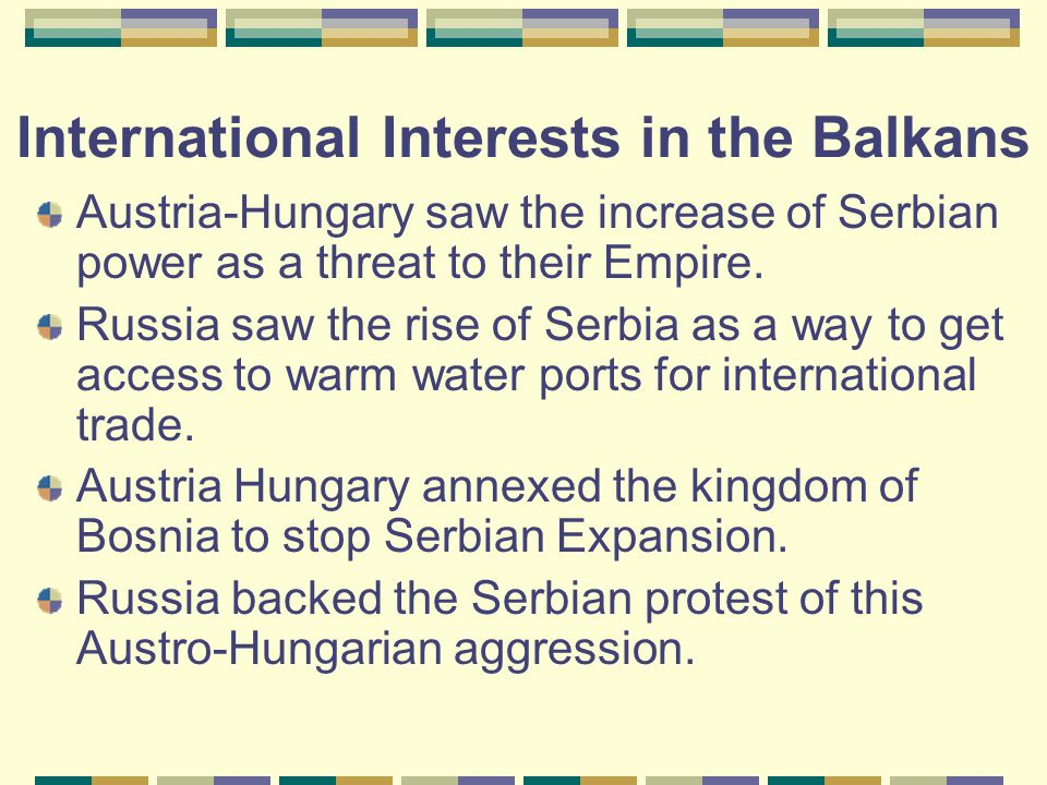 International Interests in the Balkans