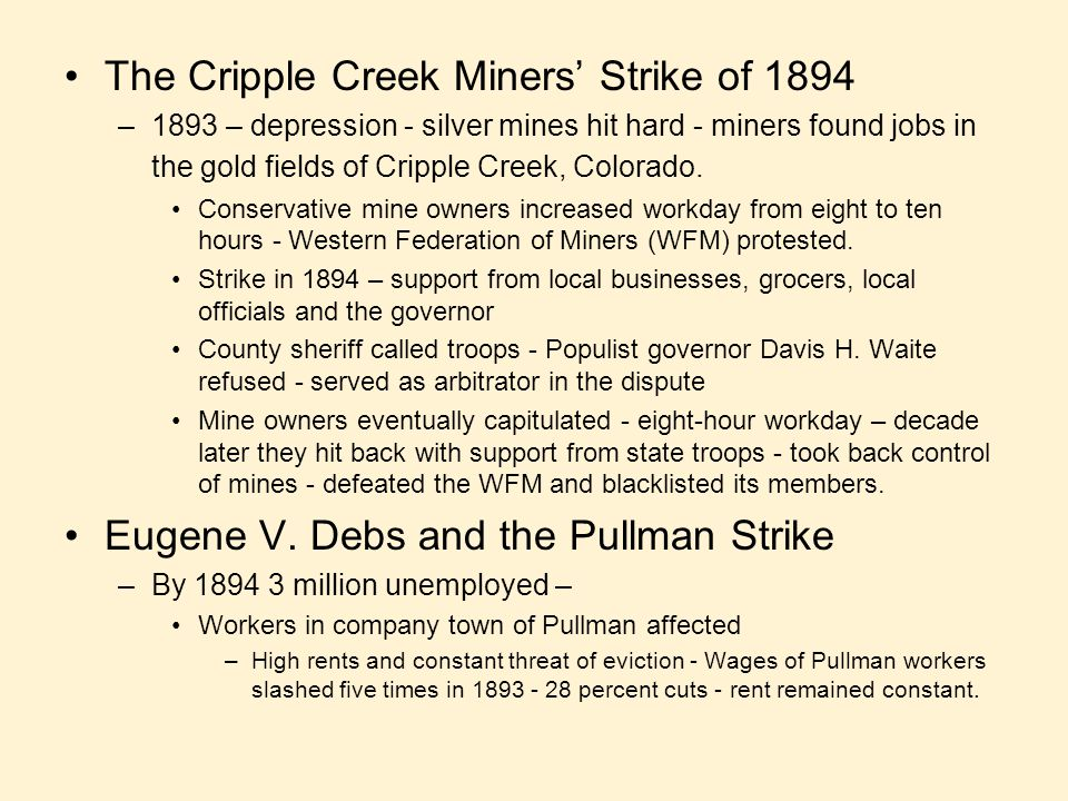 The Cripple Creek Miners' Strike of 1894