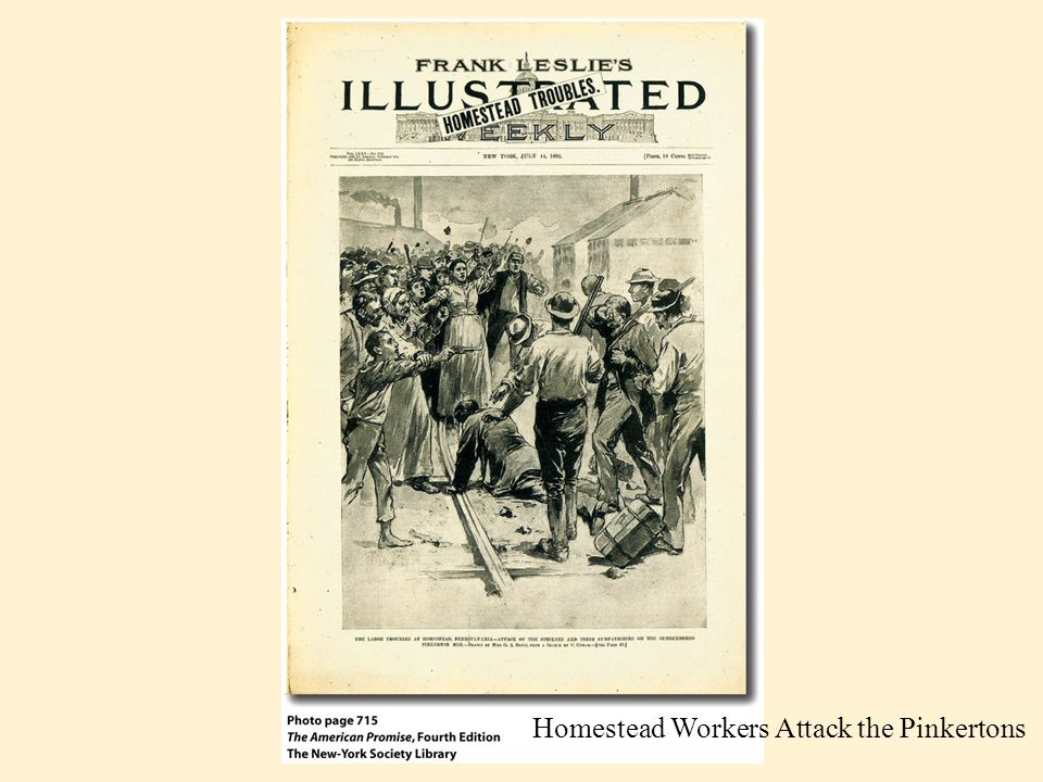 Homestead Workers Attack the Pinkertons