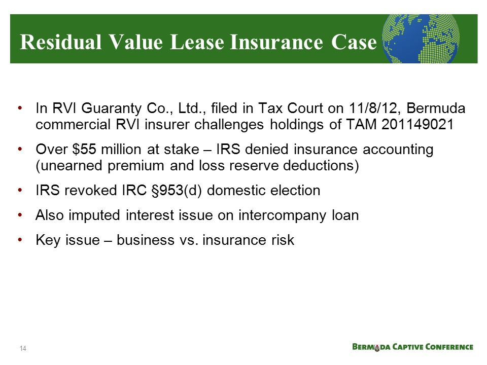 Residual Value Lease Insurance Case