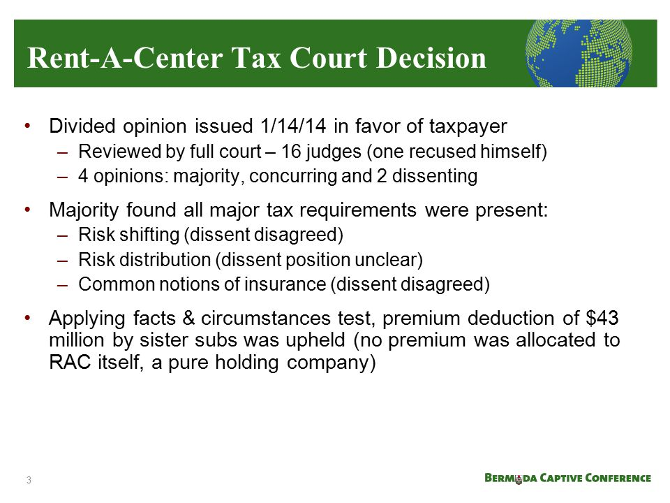 Rent-A-Center Tax Court Decision