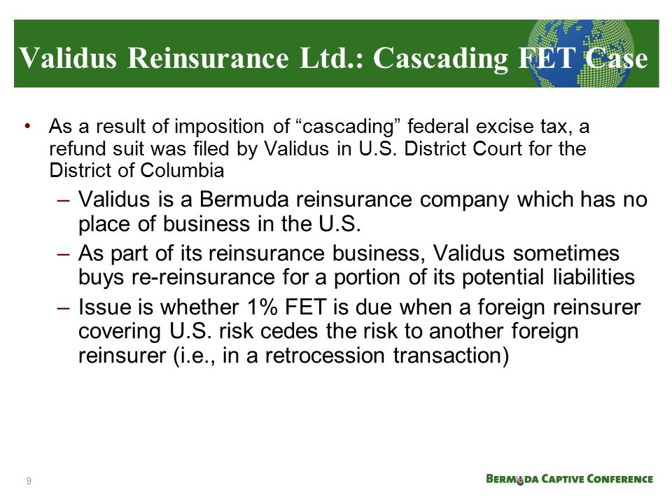 Validus Reinsurance Ltd.: Cascading FET Case