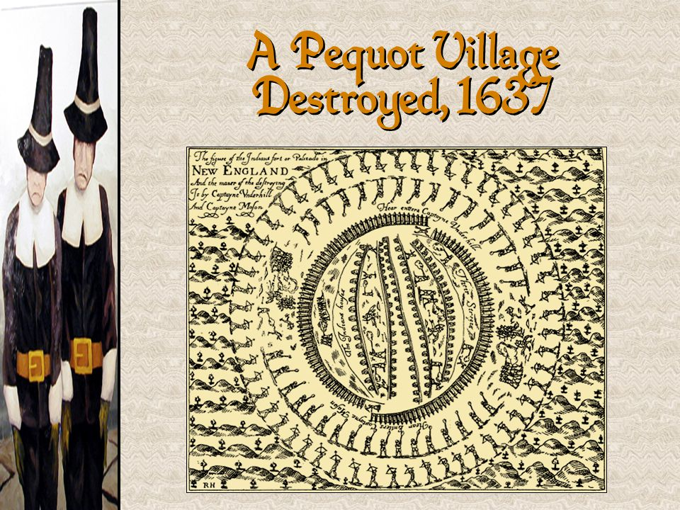 A Pequot Village Destroyed, 1637