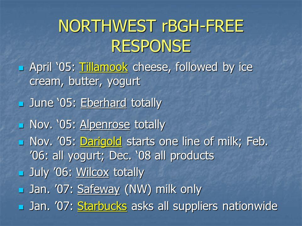 NORTHWEST rBGH-FREE RESPONSE