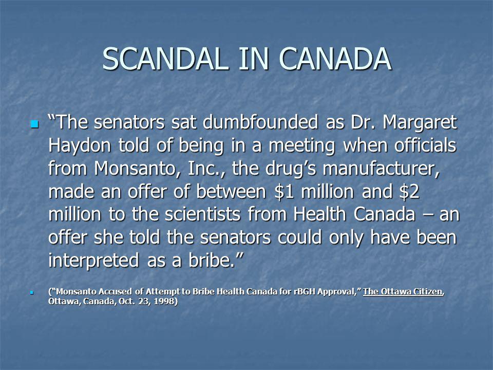 SCANDAL IN CANADA