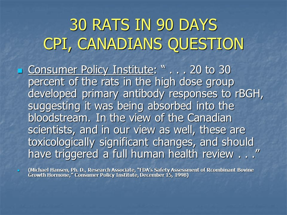 30 RATS IN 90 DAYS CPI, CANADIANS QUESTION