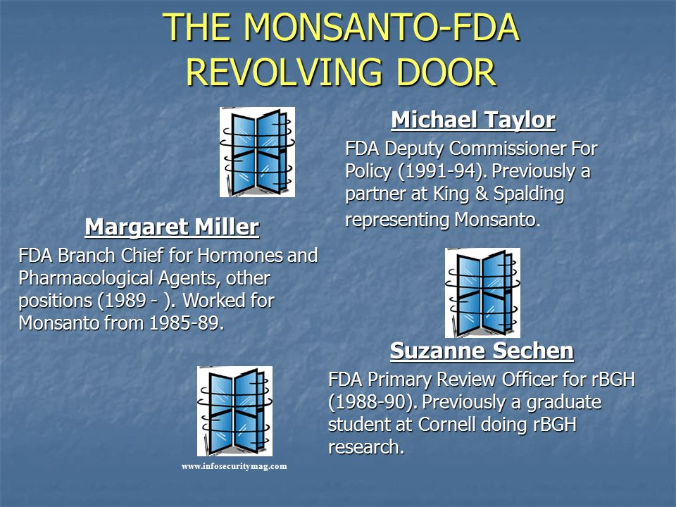 THE MONSANTO-FDA REVOLVING DOOR