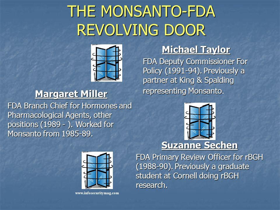 THE MONSANTO-FDA REVOLVING DOOR