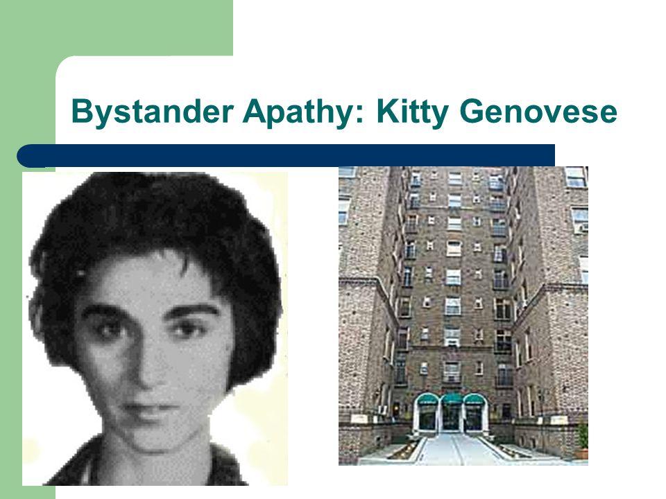 Bystander Apathy: Kitty Genovese