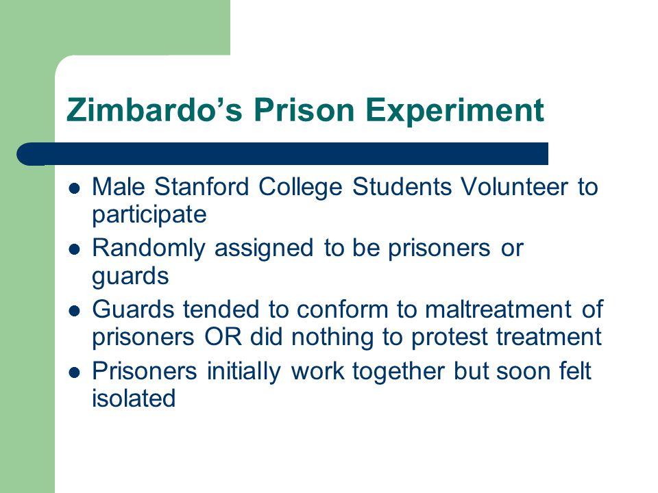 Zimbardo's Prison Experiment