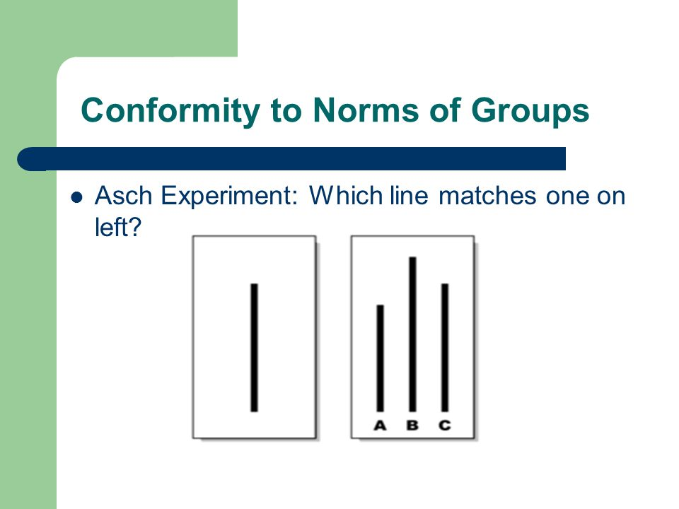 Conformity to Norms of Groups
