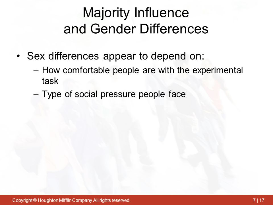 Majority Influence and Gender Differences