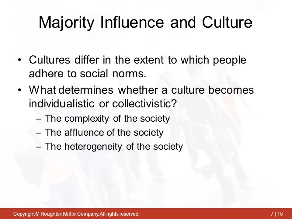 Majority Influence and Culture
