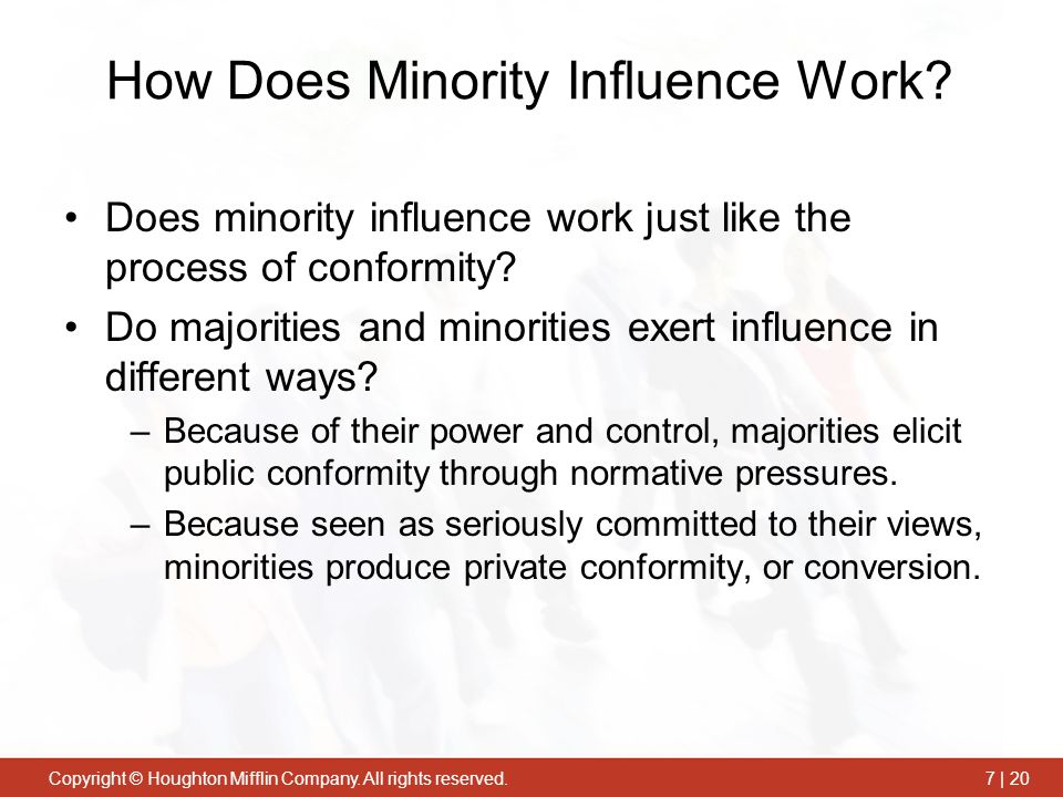 How Does Minority Influence Work