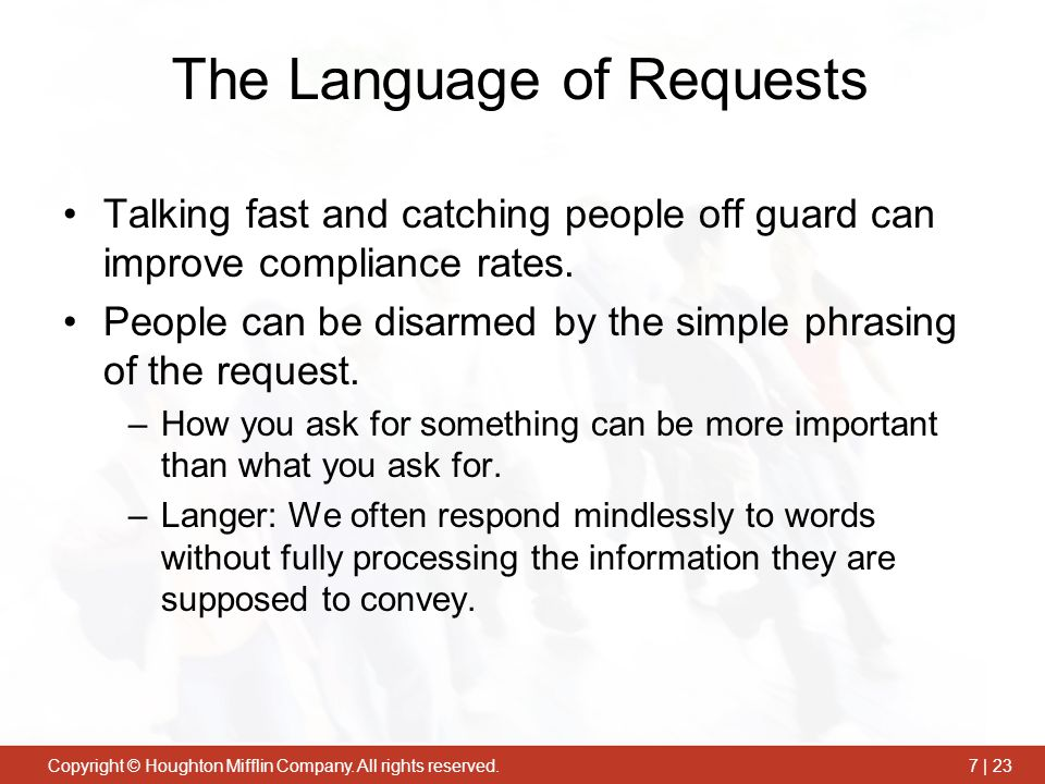The Language of Requests