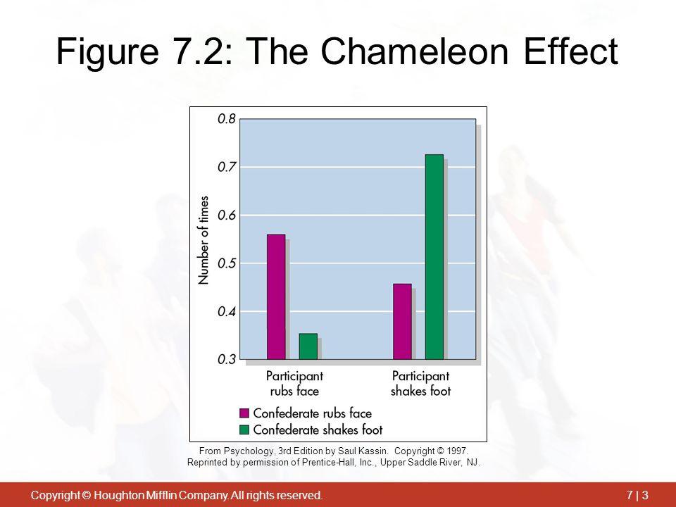 Figure 7.2: The Chameleon Effect