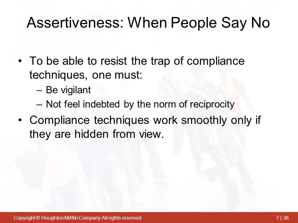 Assertiveness: When People Say No