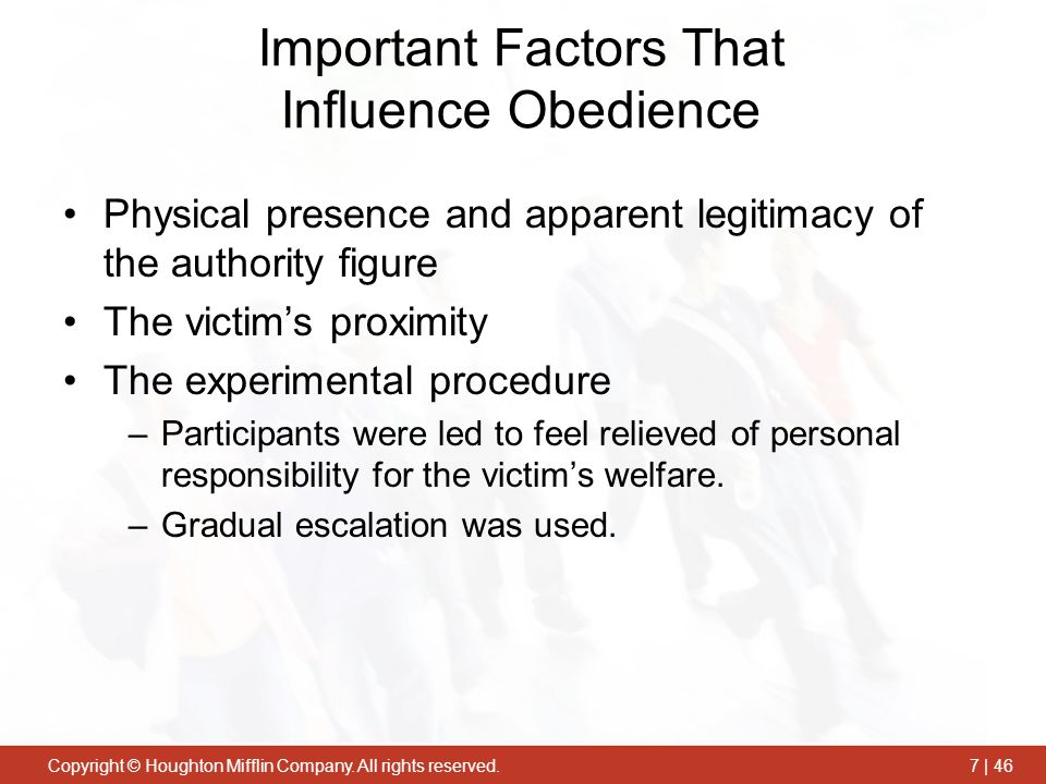 Important Factors That Influence Obedience