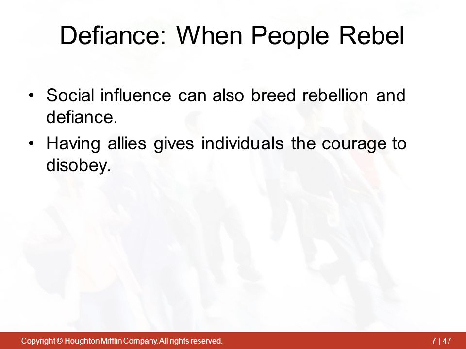 Defiance: When People Rebel