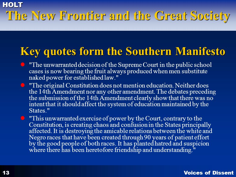 Key quotes form the Southern Manifesto