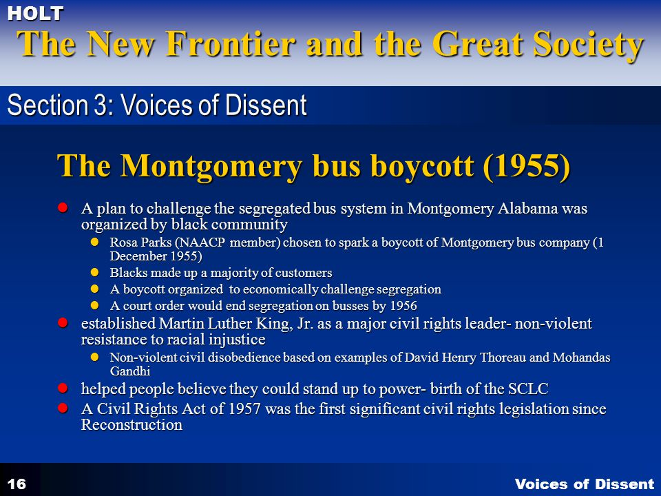 The Montgomery bus boycott (1955)