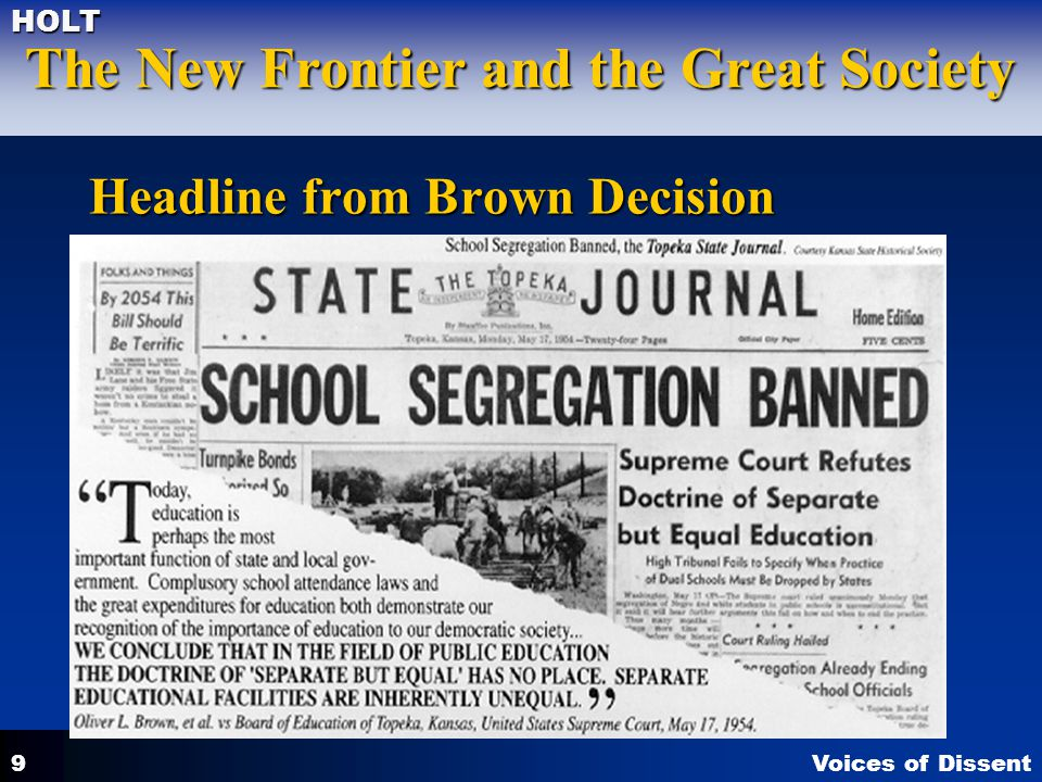 Headline from Brown Decision