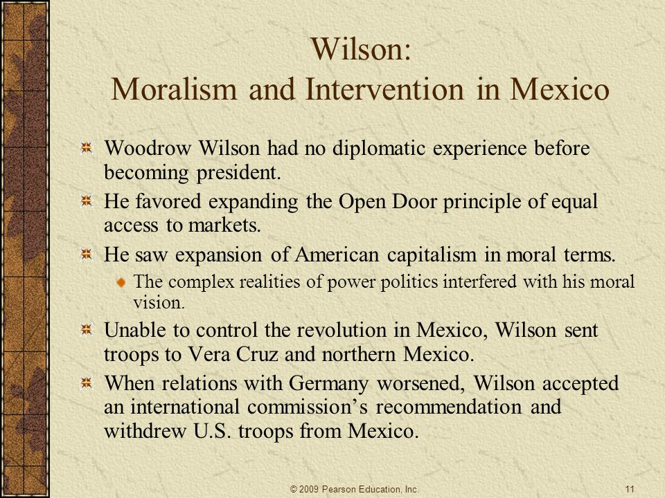 Wilson: Moralism and Intervention in Mexico