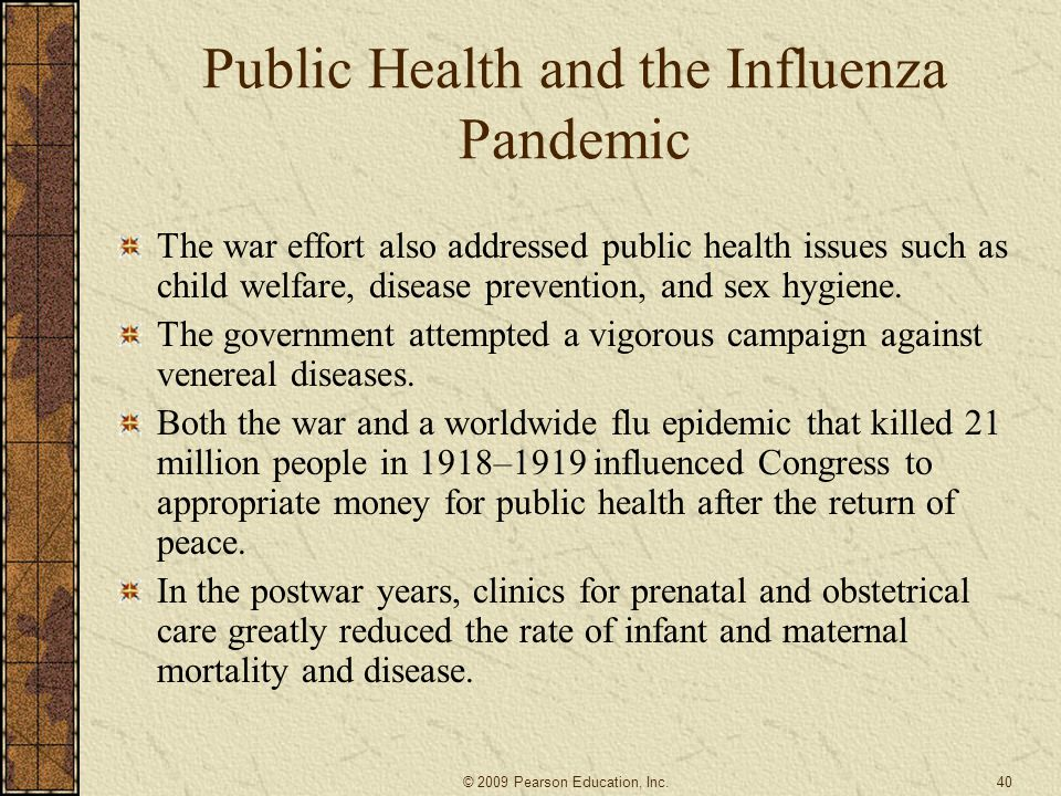 Public Health and the Influenza Pandemic