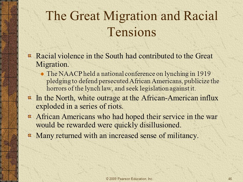 The Great Migration and Racial Tensions