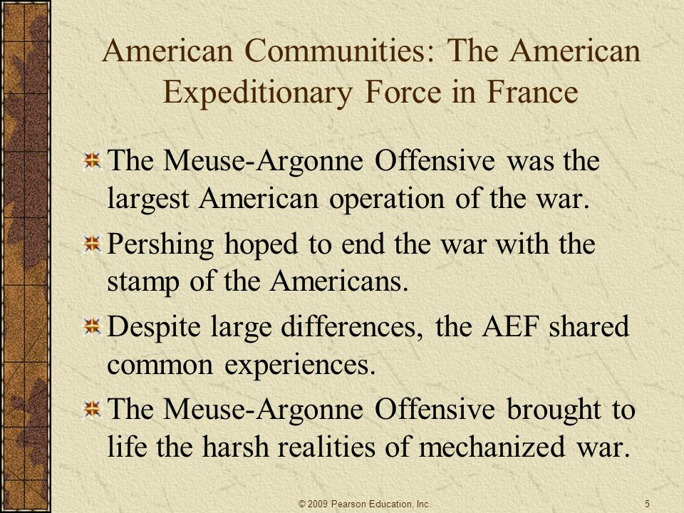 American Communities: The American Expeditionary Force in France