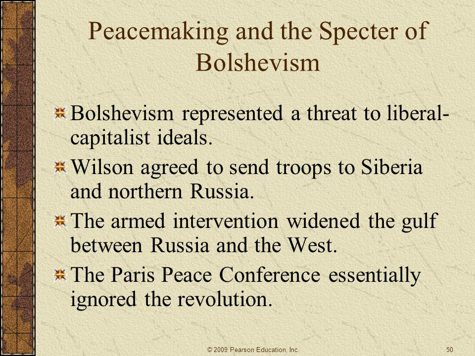 Peacemaking and the Specter of Bolshevism