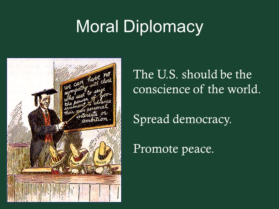 Moral Diplomacy The U.S. should be the conscience of the world.