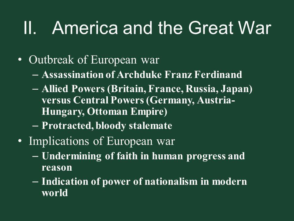 II. America and the Great War