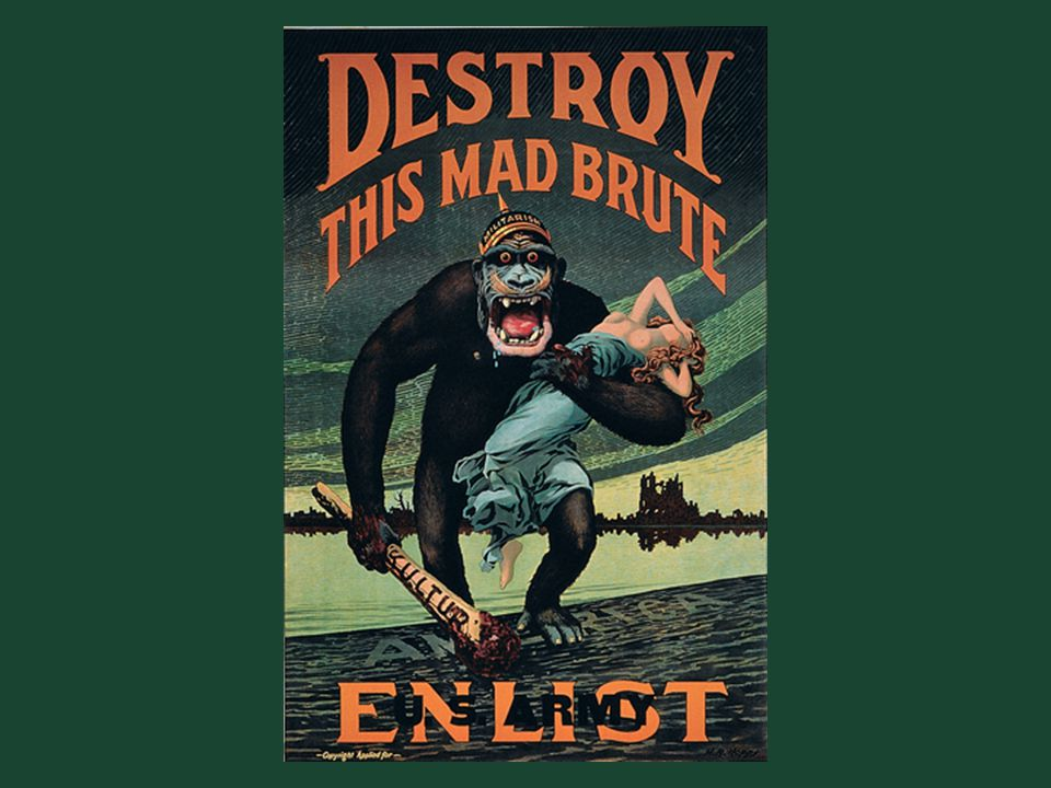 Ch. 19, Image 11 A vivid example of the anti-German propaganda produced by the federal government to encourage prowar sentiment during World War I.