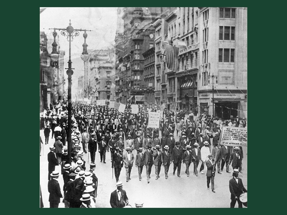 Ch. 19, Image 23 The silent parade down Fifth Avenue, July 28, 1917, in which 10,000 black marchers protested the East St. Louis race riot.