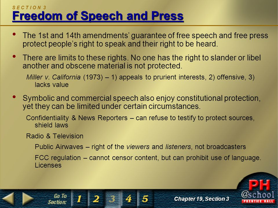 Protecting the freedom of speech of the general public