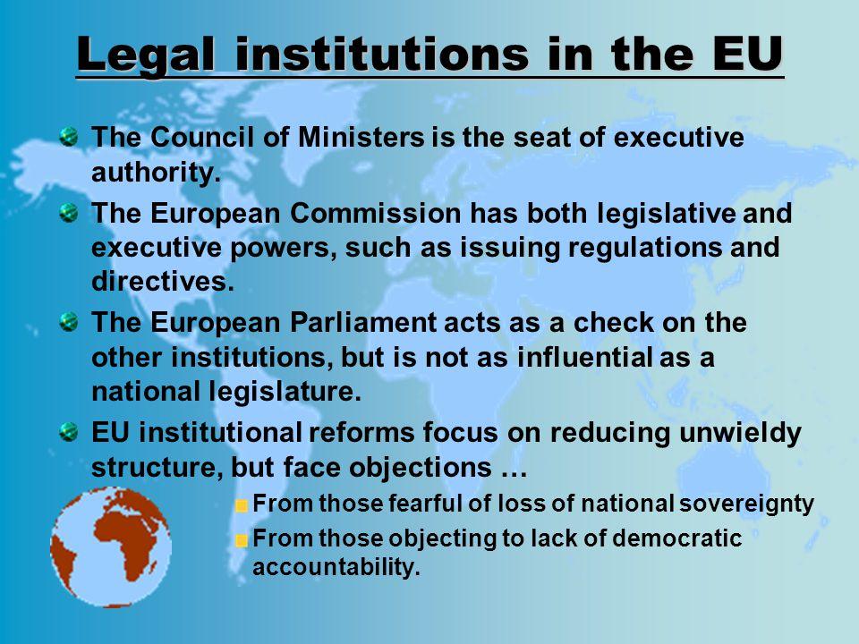 Legal institutions in the EU