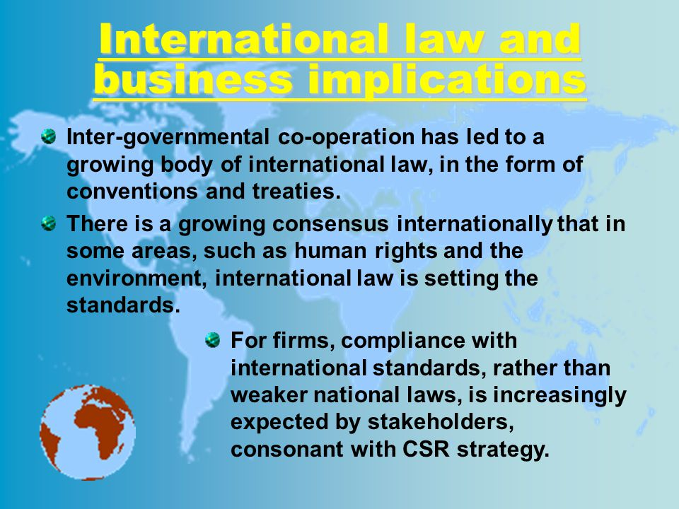 International law and business implications