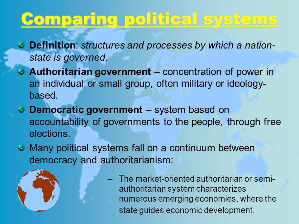 Comparing political systems