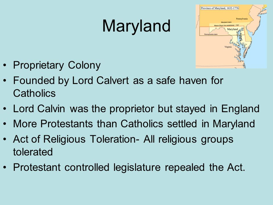 Maryland Proprietary Colony