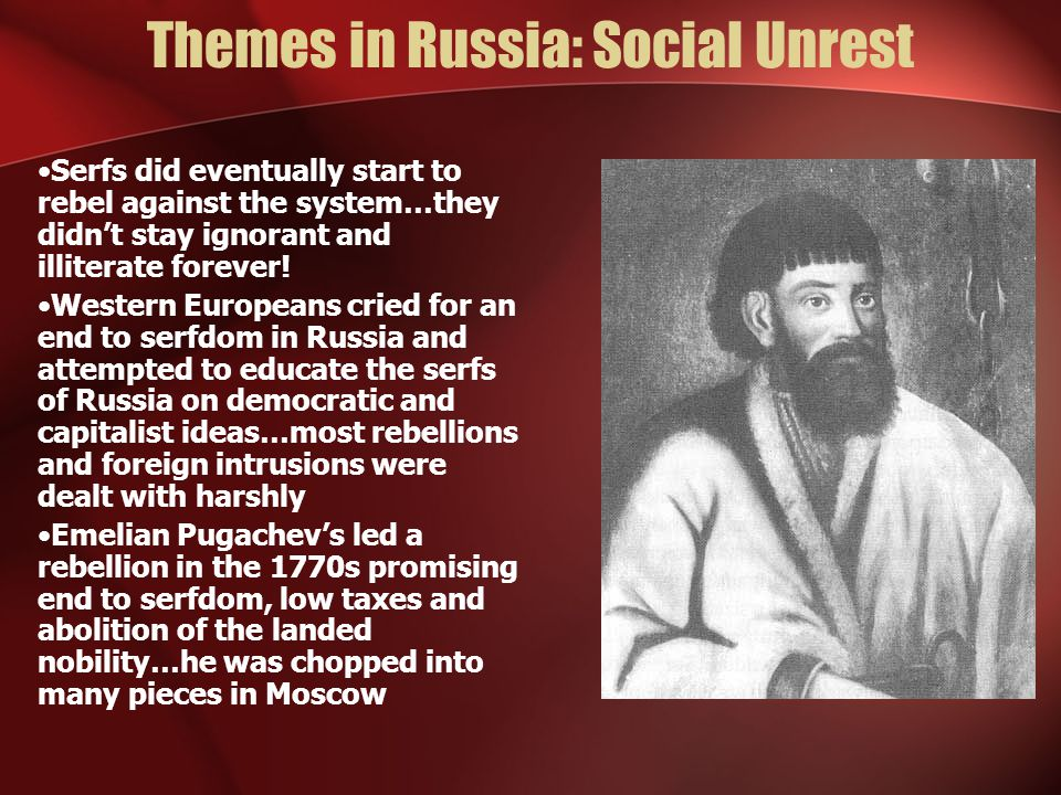 Themes in Russia: Social Unrest