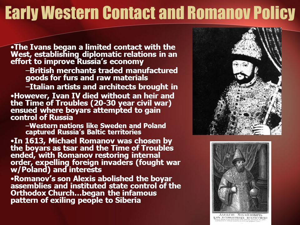 Early Western Contact and Romanov Policy