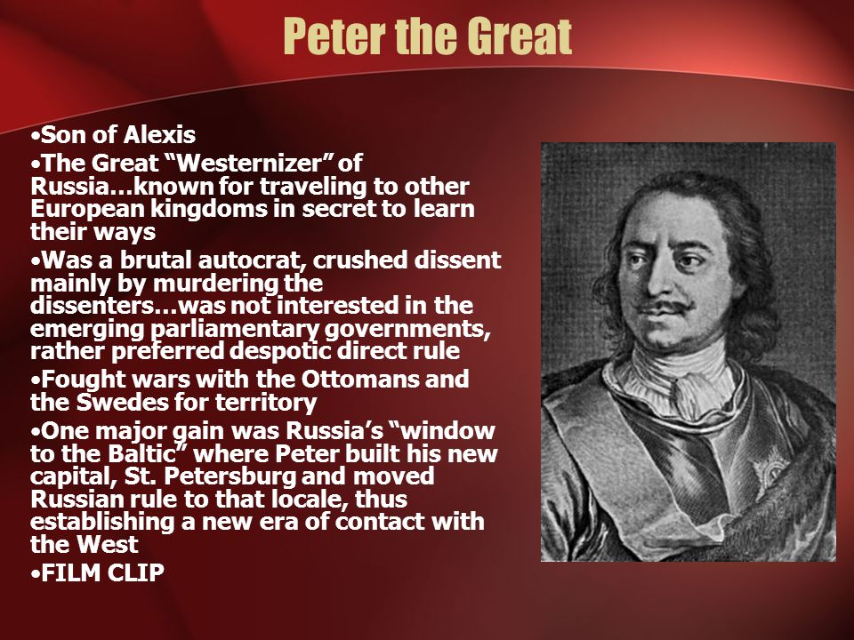 Peter the Great Son of Alexis