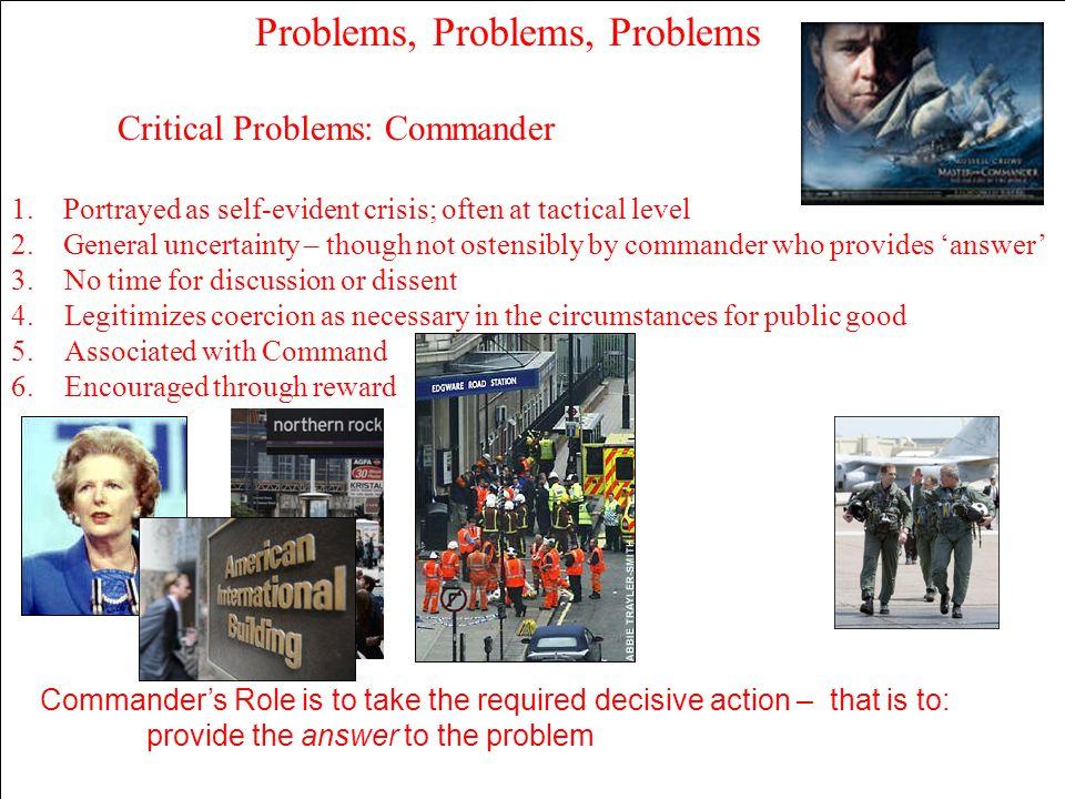 Problems, Problems, Problems
